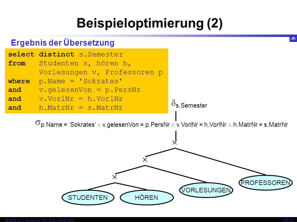 65 © 2009 Univ,Karlsruhe, IPD, Prof.