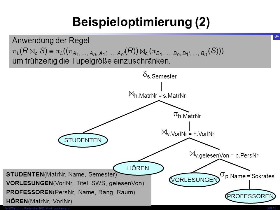 70 © 2009 Univ,Karlsruhe, IPD, Prof.