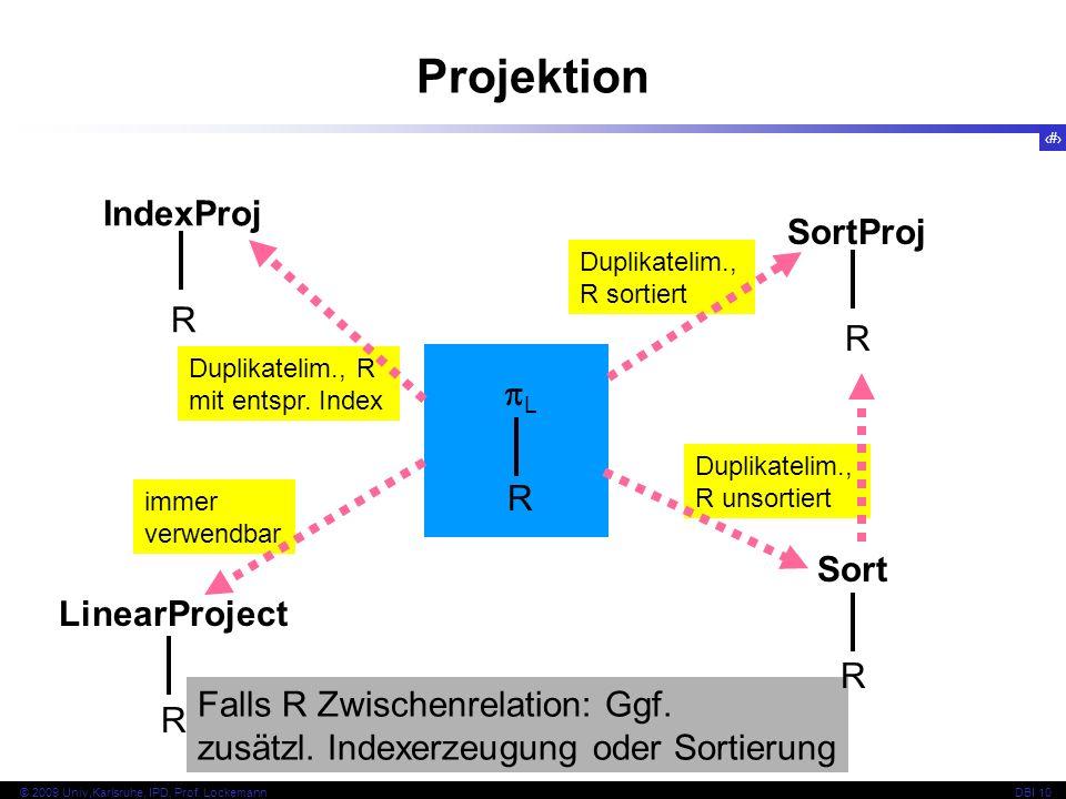 84 © 2009 Univ,Karlsruhe, IPD, Prof.