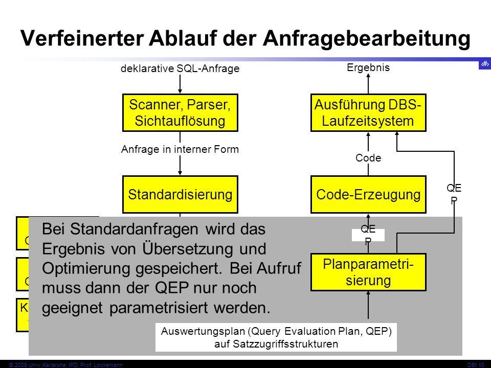 60 © 2009 Univ,Karlsruhe, IPD, Prof.LockemannDBI 10 Anwendung der Regeln c 1 c 2...