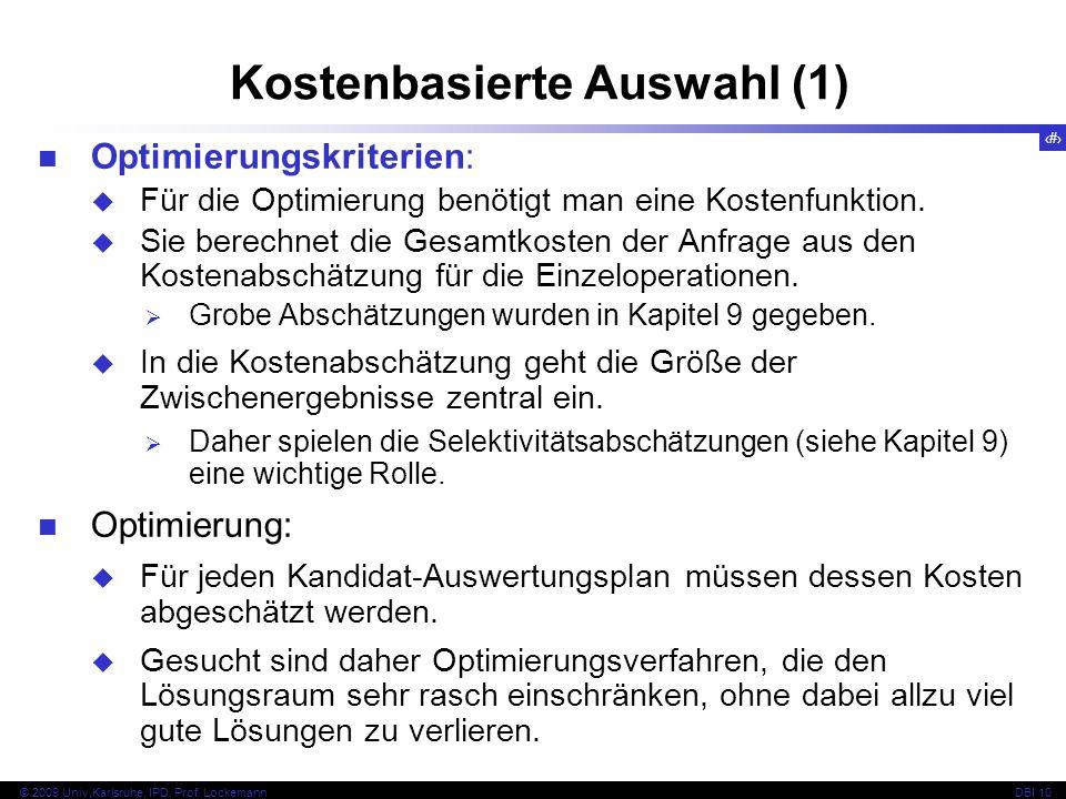 92 © 2009 Univ,Karlsruhe, IPD, Prof.