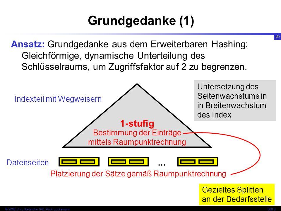 117 © 2008 Univ,Karlsruhe, IPD, Prof.