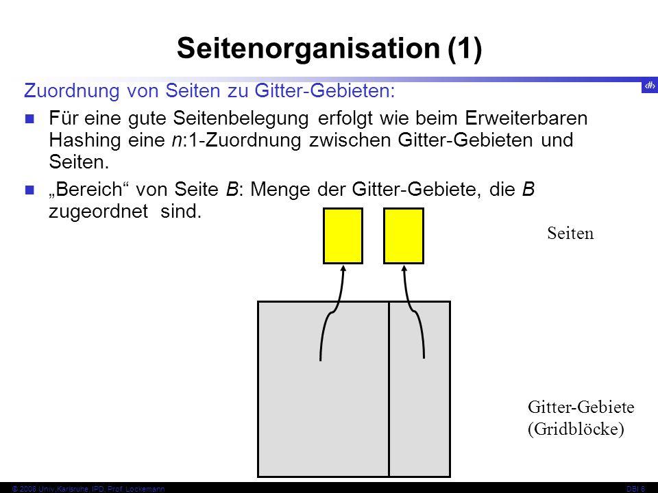 120 © 2008 Univ,Karlsruhe, IPD, Prof. LockemannDBI 6 Seitenorganisation (2)