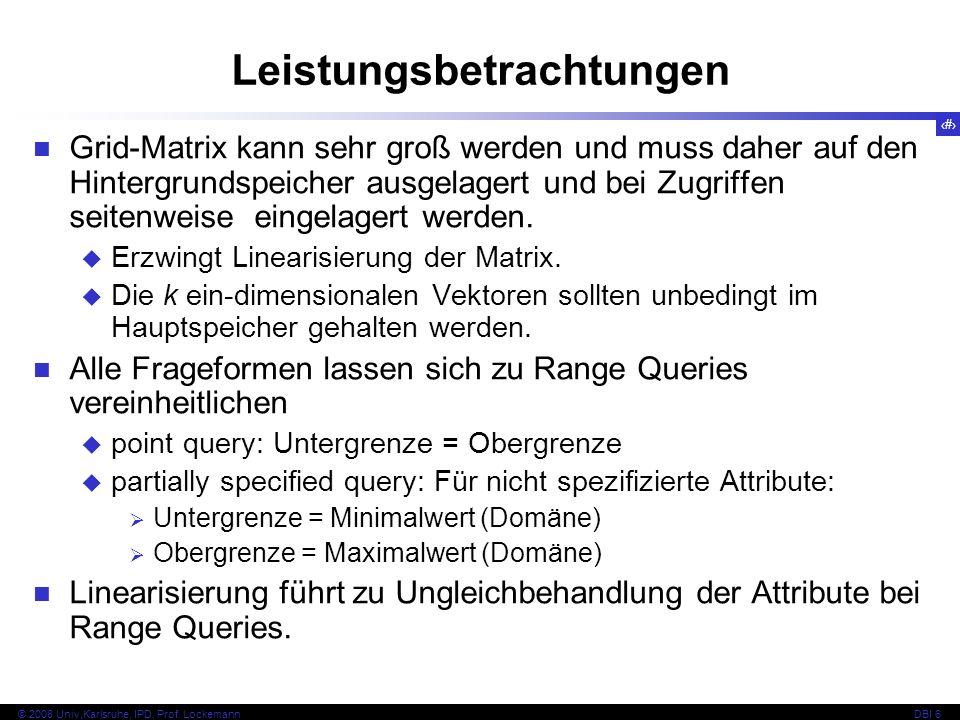 128 © 2008 Univ,Karlsruhe, IPD, Prof. LockemannDBI 6 Kapitel 6.5.5 KdB-Baum