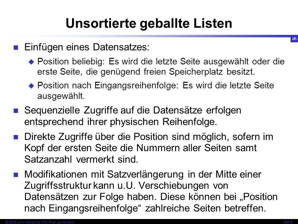 14 © 2008 Univ,Karlsruhe, IPD, Prof.