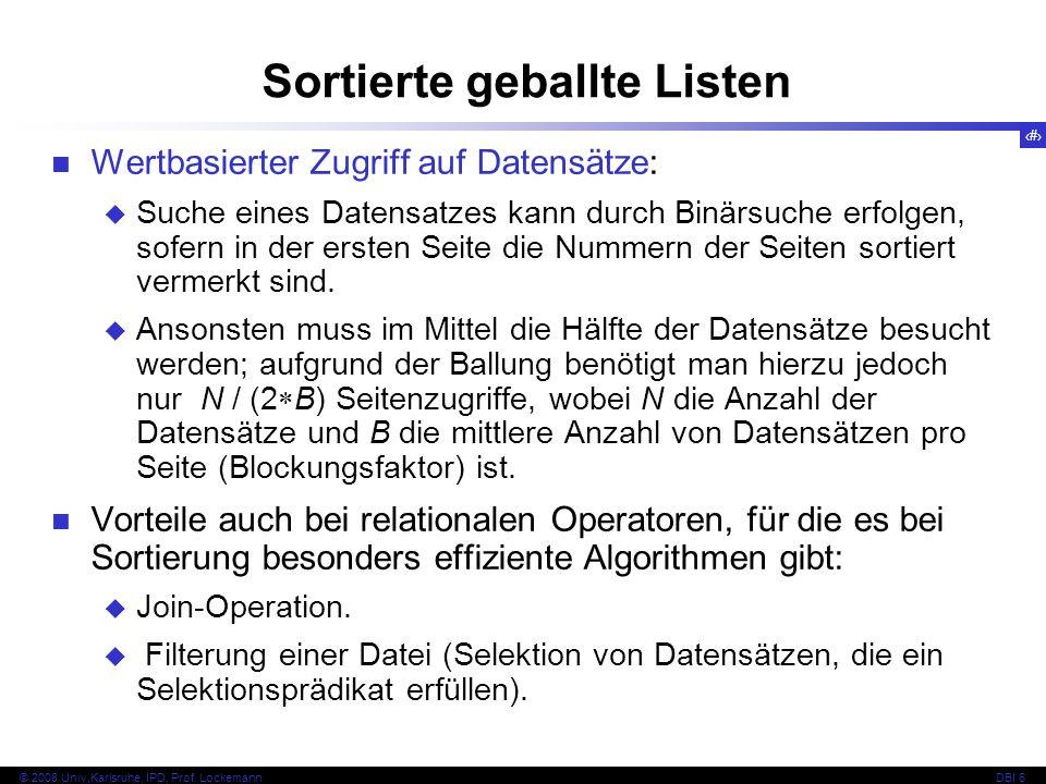 15 © 2008 Univ,Karlsruhe, IPD, Prof.