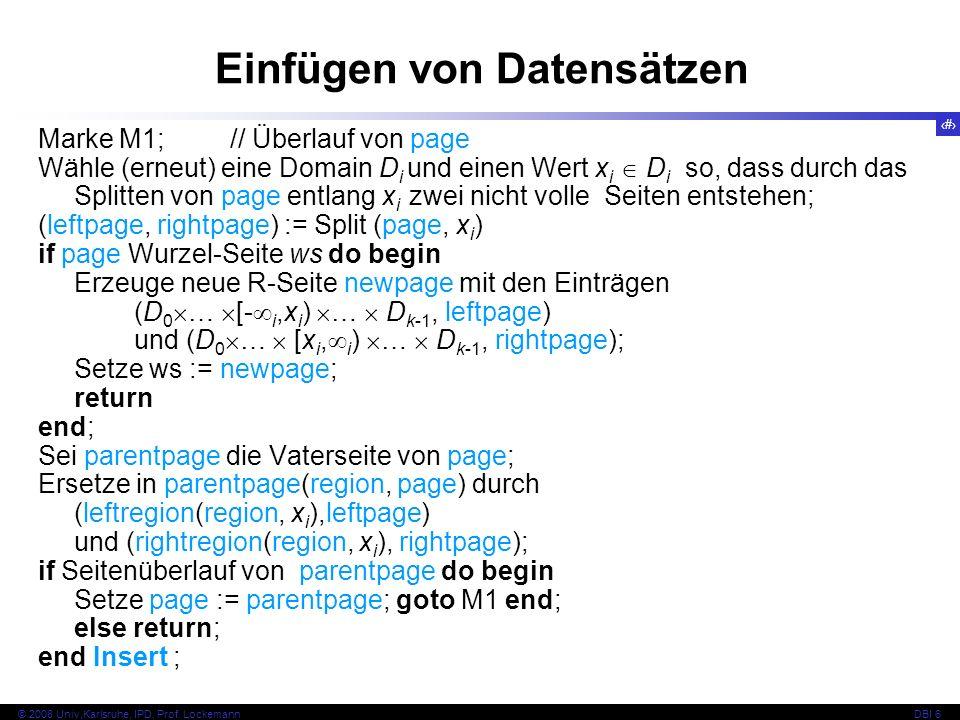 142 © 2008 Univ,Karlsruhe, IPD, Prof.