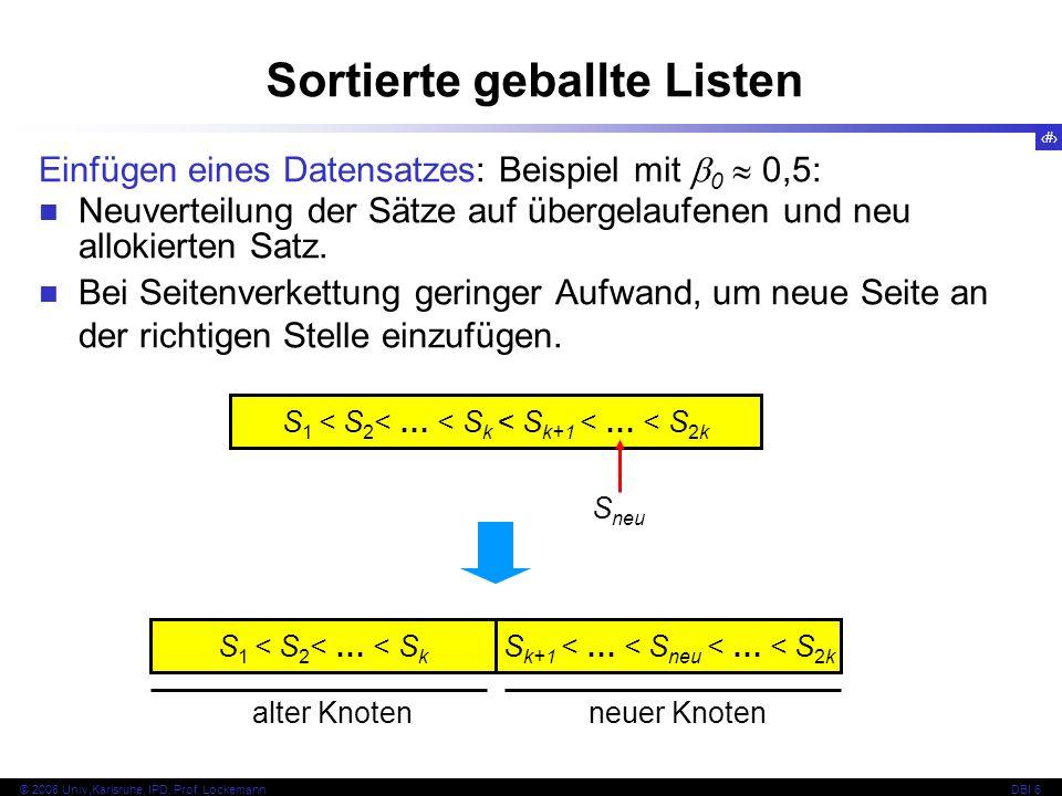 17 © 2008 Univ,Karlsruhe, IPD, Prof.