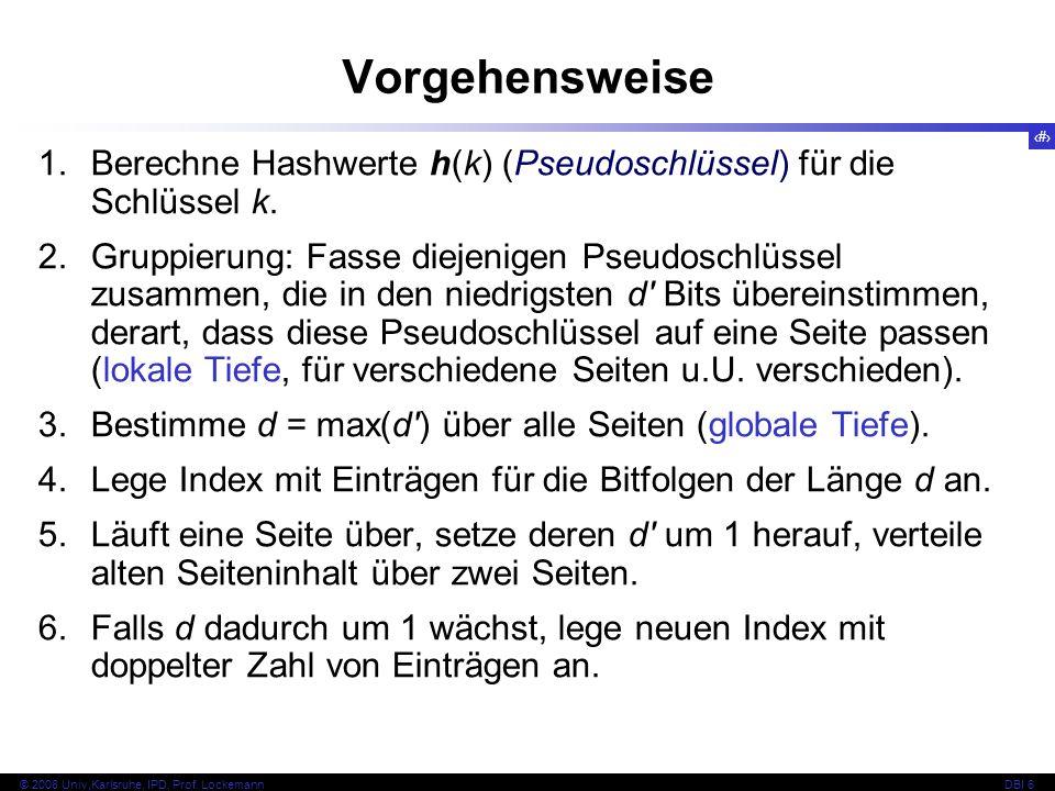 55 © 2008 Univ,Karlsruhe, IPD, Prof. LockemannDBI 6 Beispiel