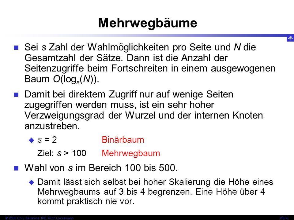 66 © 2008 Univ,Karlsruhe, IPD, Prof.