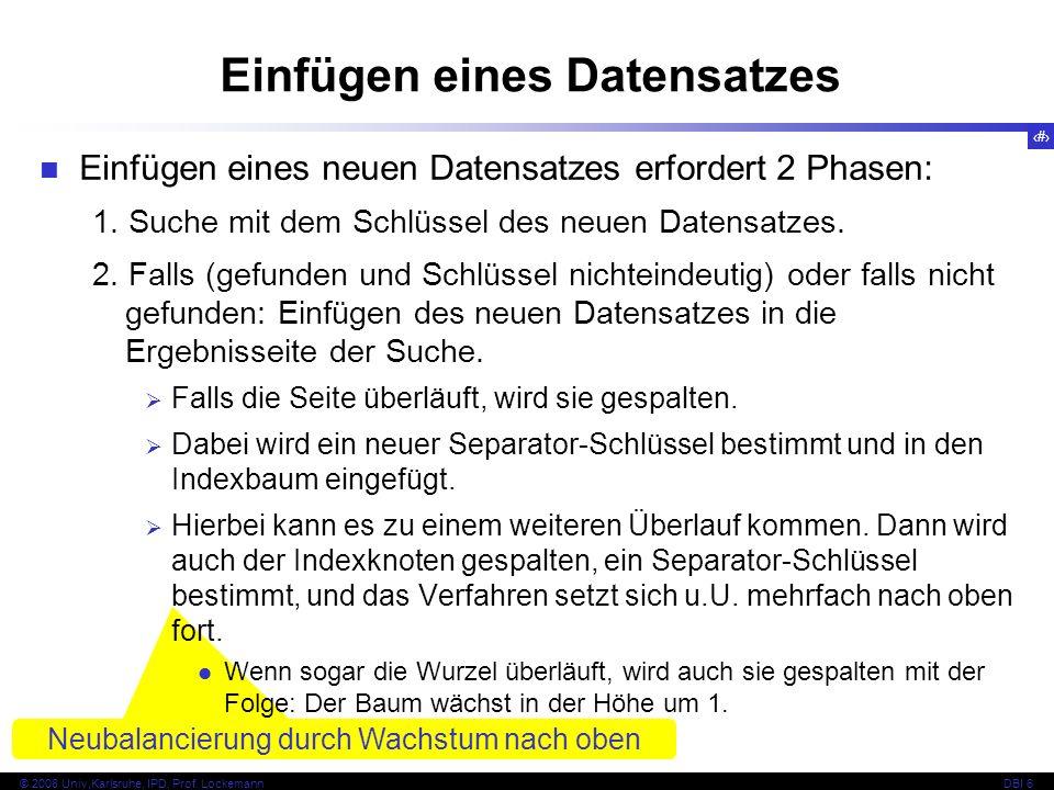 78 © 2008 Univ,Karlsruhe, IPD, Prof.LockemannDBI 6 Beispiel 10...