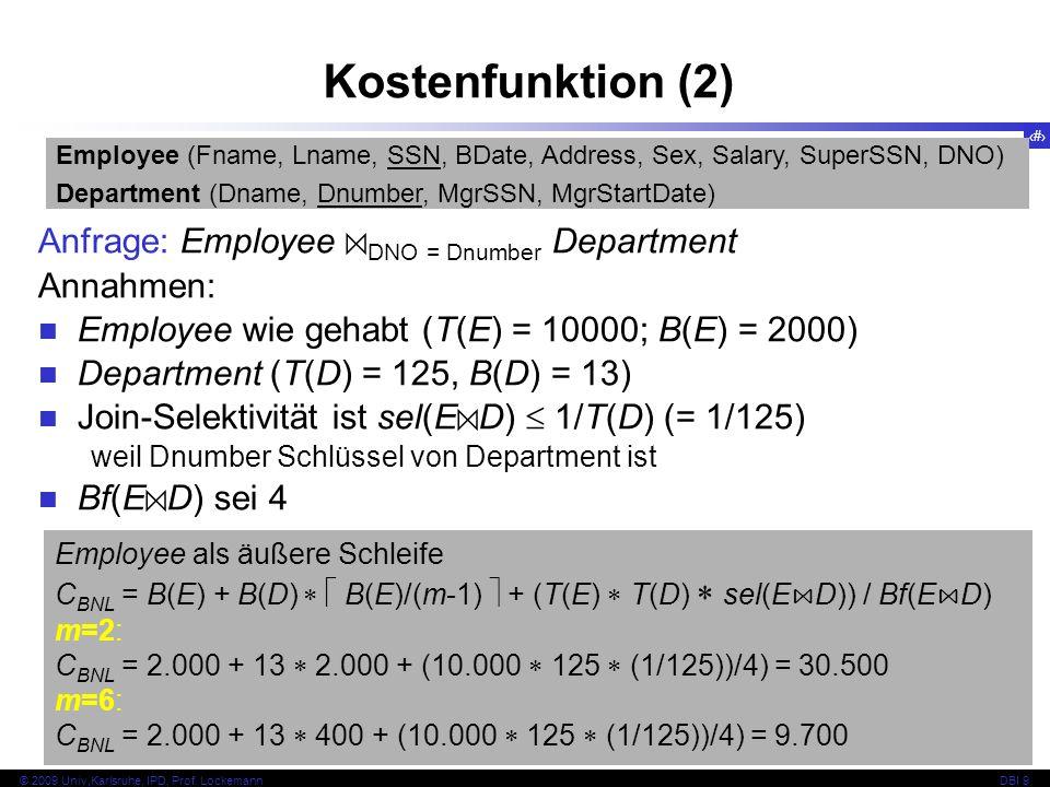 41 © 2009 Univ,Karlsruhe, IPD, Prof.