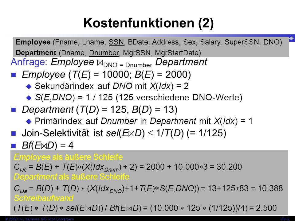 50 © 2009 Univ,Karlsruhe, IPD, Prof.