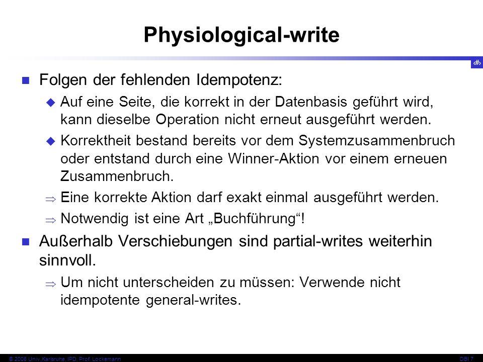 12 © 2008 Univ,Karlsruhe, IPD, Prof.