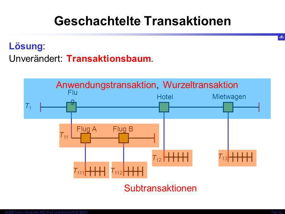 21 © 2007 Univ,Karlsruhe, IPD, Prof. Lockemann/Prof.