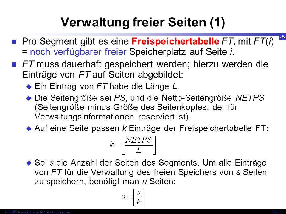 99 © 2009 Univ,Karlsruhe, IPD, Prof.