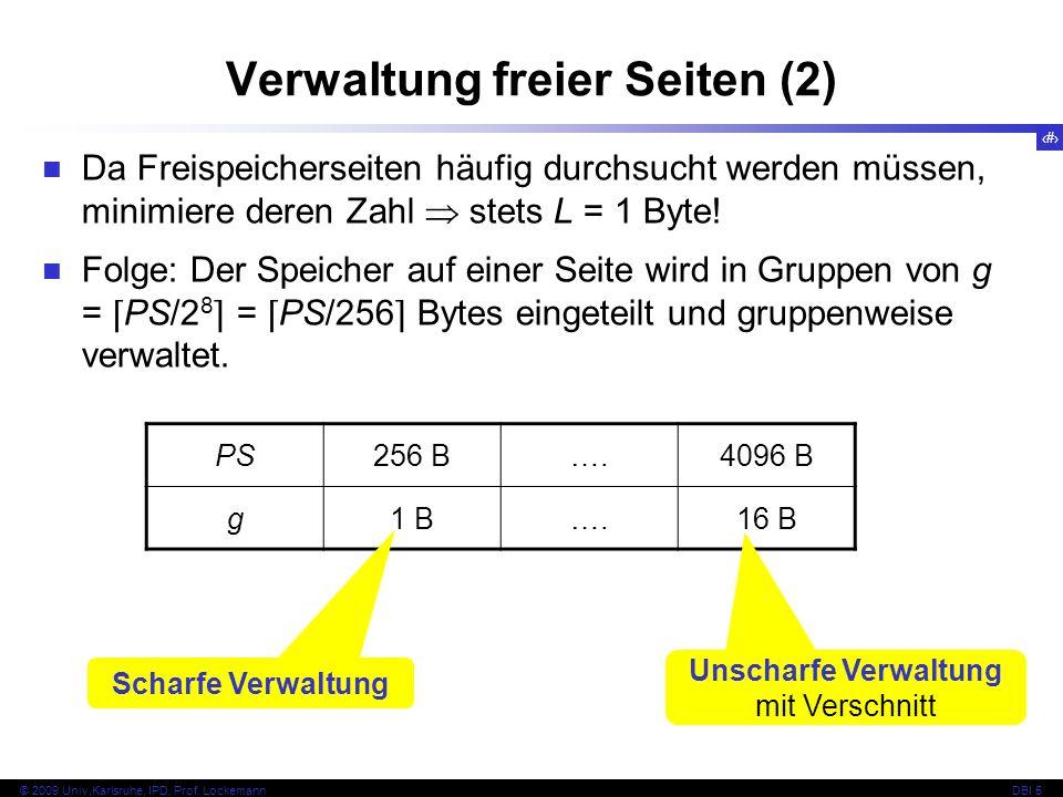 40 © 2009 Univ,Karlsruhe, IPD, Prof.