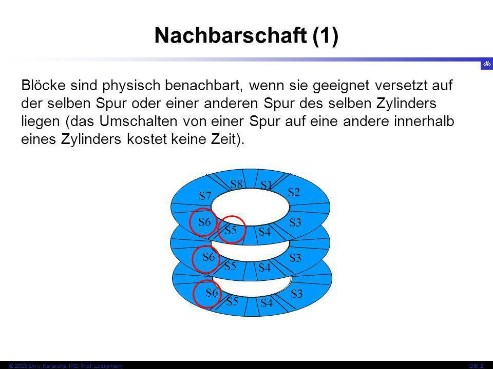 27 © 2009 Univ,Karlsruhe, IPD, Prof. LockemannDBI 2 Nachbarschaft (1) S6 S5 S4 S1 S3 S8 S7 B1 B6 S6 S5 S4 S1 S3 S2 S8 S7 B1 B6 S6 S5 S4 S1 S3 S2 S8 S7