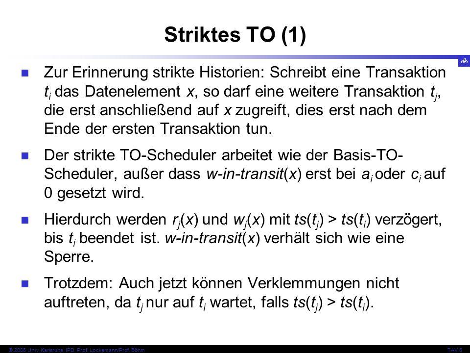 121 © 2006 Univ,Karlsruhe, IPD, Prof. Lockemann/Prof.