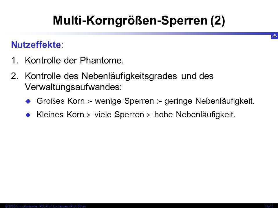 58 © 2006 Univ,Karlsruhe, IPD, Prof. Lockemann/Prof.