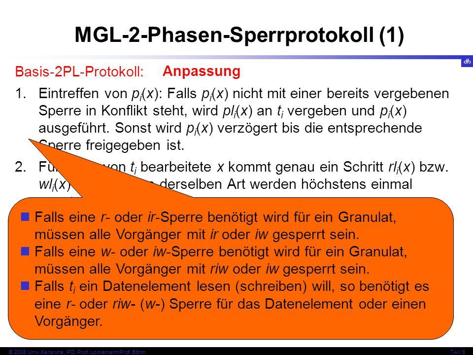 62 © 2006 Univ,Karlsruhe, IPD, Prof. Lockemann/Prof.