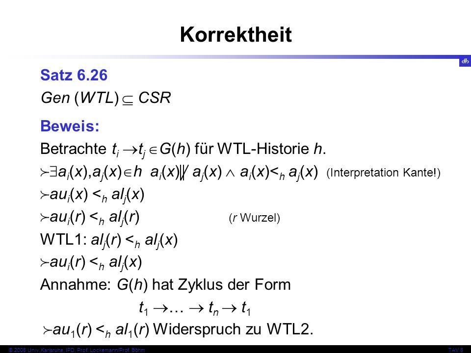 82 © 2006 Univ,Karlsruhe, IPD, Prof. Lockemann/Prof.