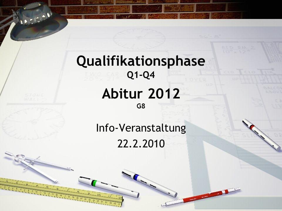 Qualifikationsphase Q1-Q4 Abitur 2012 G8 Info-Veranstaltung 22.2.2010