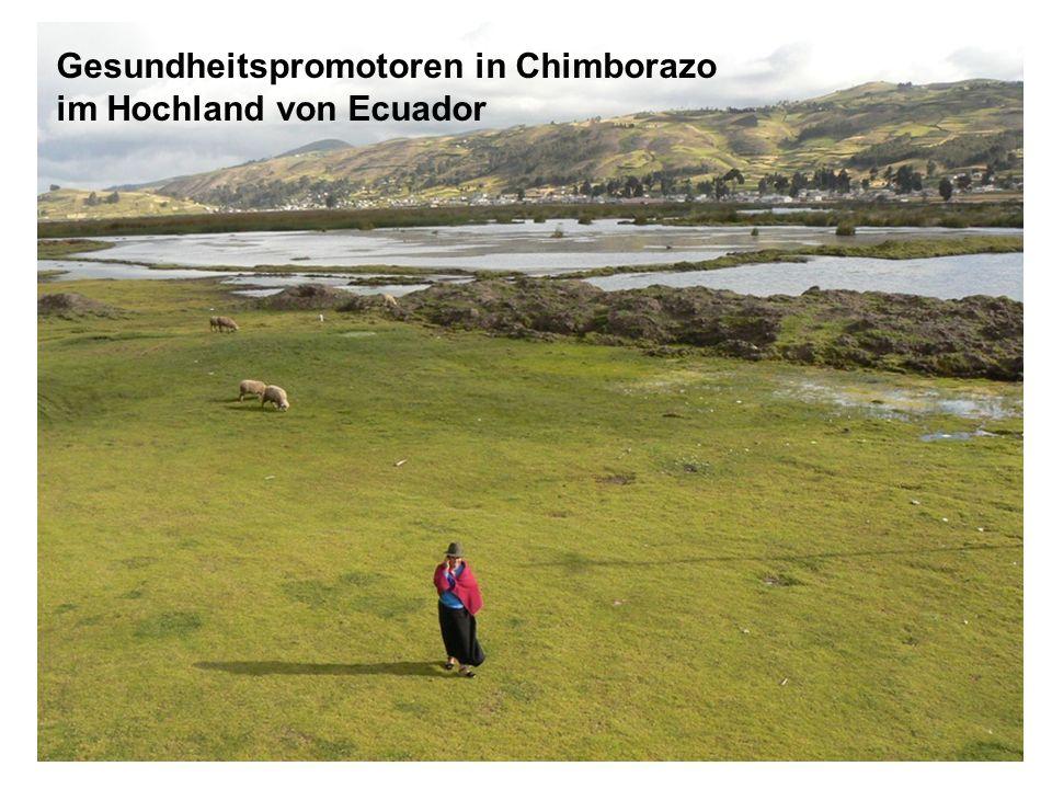 Gesundheitspromotoren in Chimborazo im Hochland von Ecuador