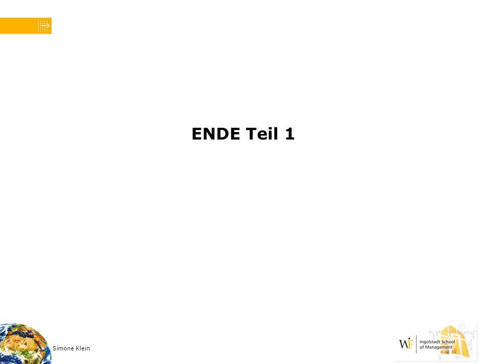 Simone Klein ENDE Teil 1