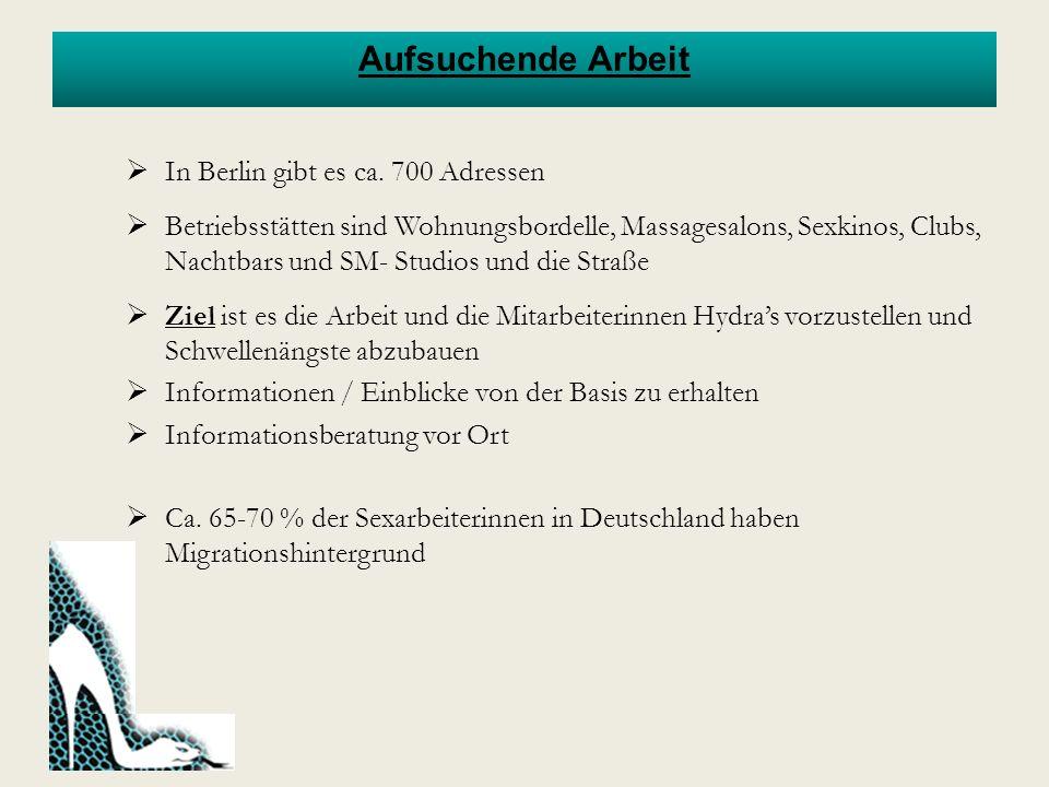 Arbeitsrechtliche Situation In Deutschland besteht seit Januar 2002 ein Gesetz zur Regelung der Rechtsverhältnisse von Prostituierten.