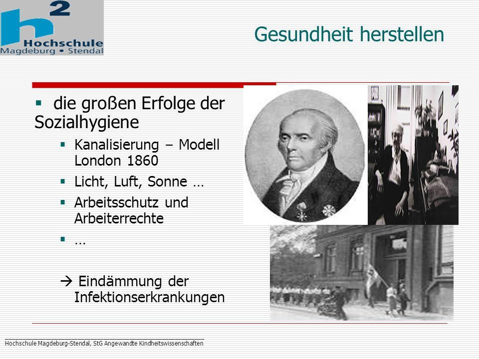 _____________________________________________________________ Hochschule Magdeburg-Stendal, StG Angewandte Kindheitswissenschaften Gesundheit herstell