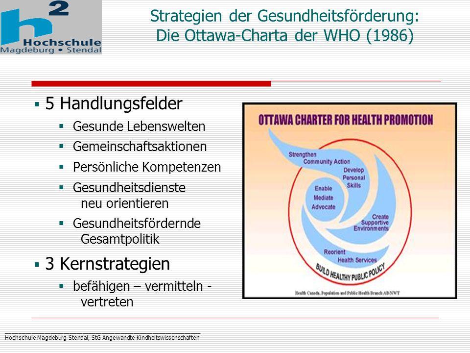_____________________________________________________________ Hochschule Magdeburg-Stendal, StG Angewandte Kindheitswissenschaften Strategien der Gesu