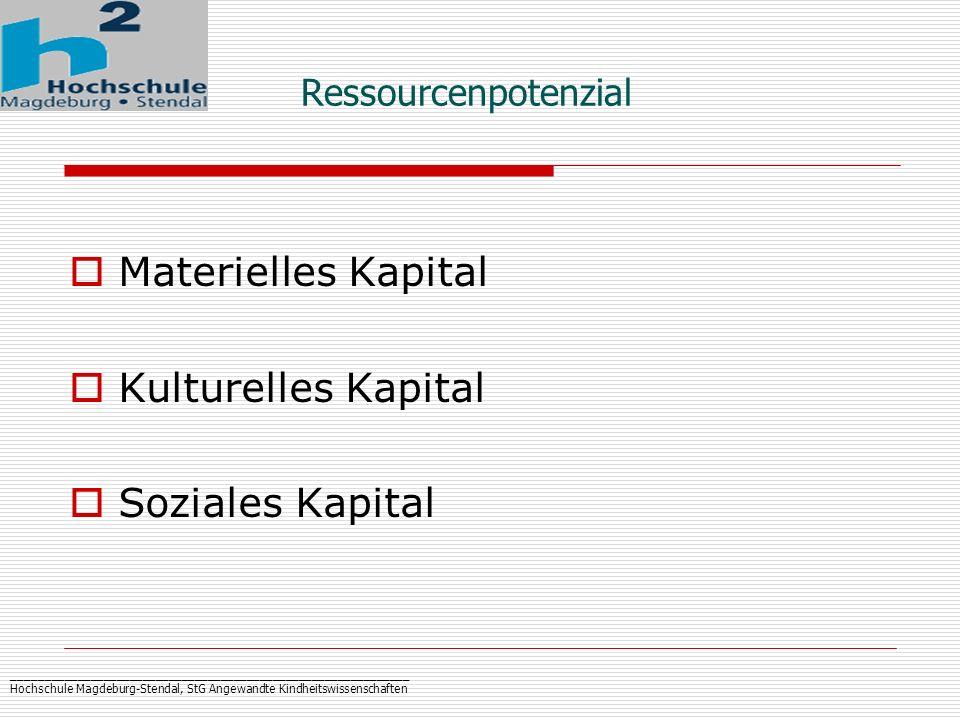 _____________________________________________________________ Hochschule Magdeburg-Stendal, StG Angewandte Kindheitswissenschaften Ressourcenpotenzial