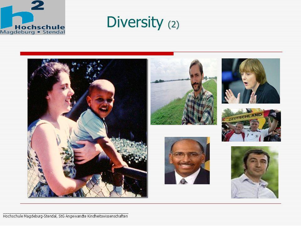 _____________________________________________________________ Hochschule Magdeburg-Stendal, StG Angewandte Kindheitswissenschaften (2) Diversity (2)