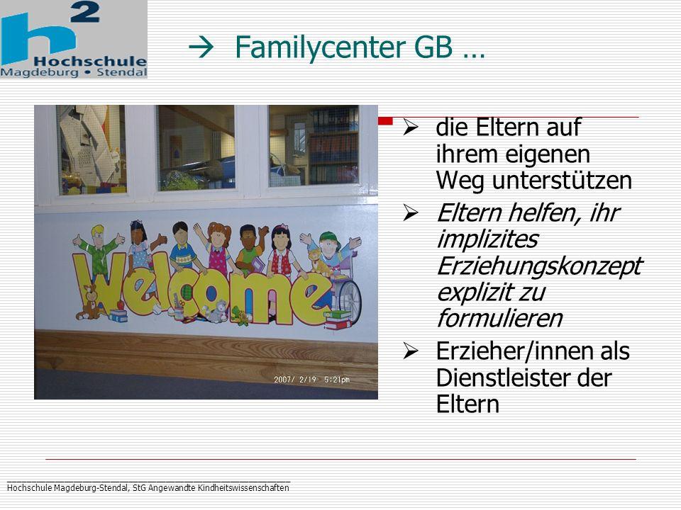 _____________________________________________________________ Hochschule Magdeburg-Stendal, StG Angewandte Kindheitswissenschaften Familycenter GB … d