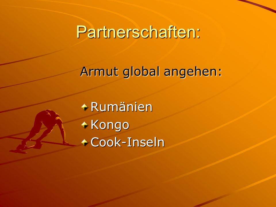 Partnerschaften: Armut global angehen: RumänienKongoCook-Inseln