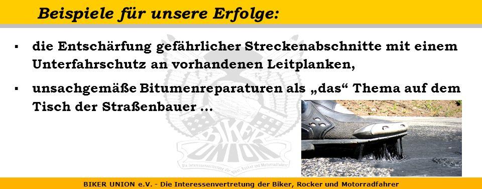 BIKER UNION e.V.- Die Interessenvertretung der Biker, Rocker und Motorradfahrer Wir......