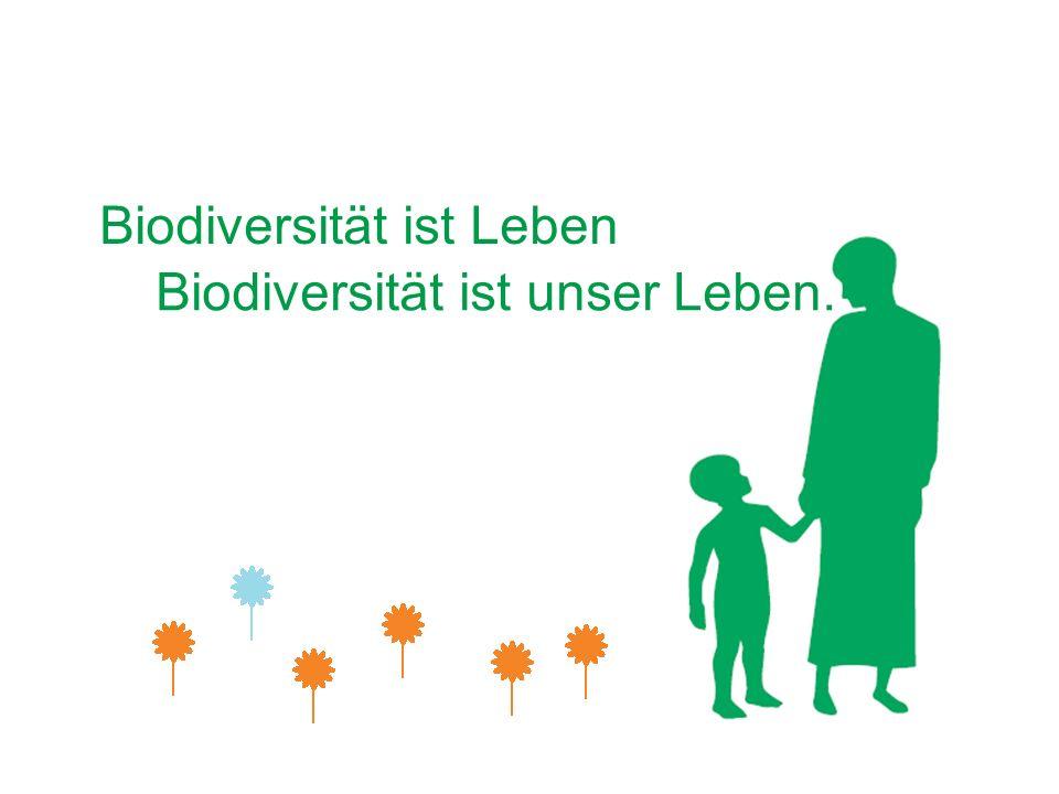 Biodiversität ist Leben Biodiversität ist unser Leben.