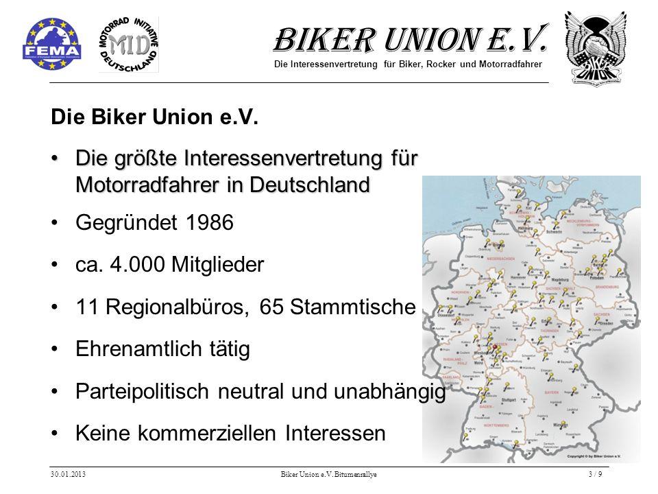 Biker Union e.V. Die Interessenvertretung für Biker, Rocker und Motorradfahrer Die Biker Union e.V.