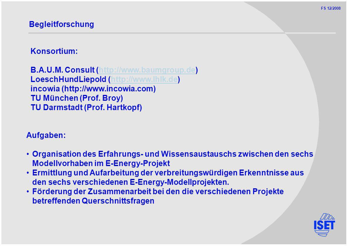 FS 12/2008 Begleitforschung Konsortium: B.A.U.M.