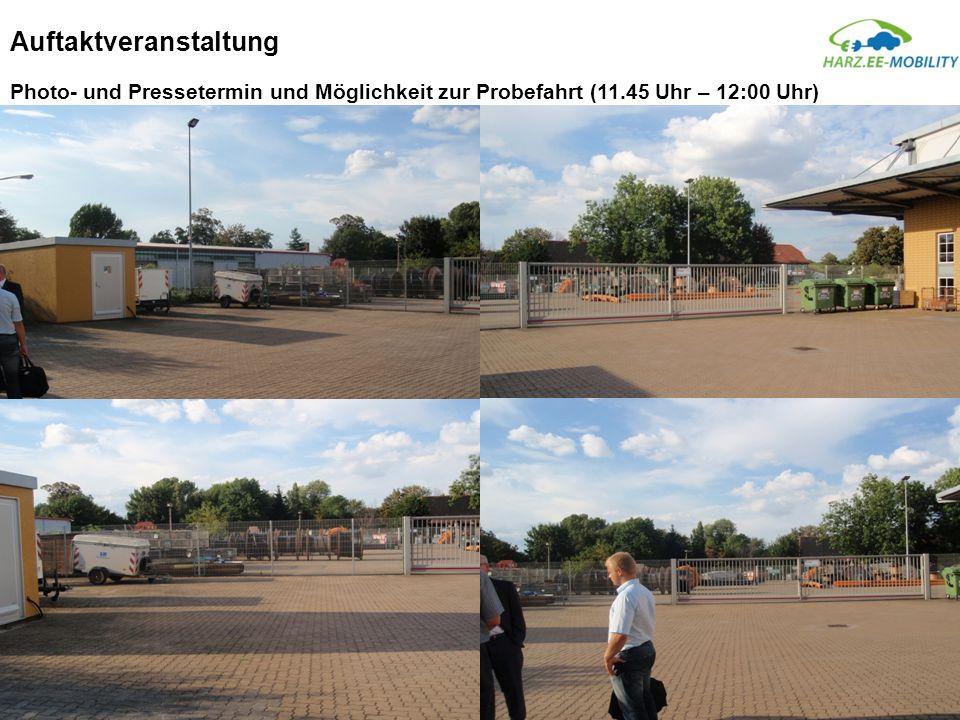 Auftaktveranstaltung Photo- und Pressetermin und Möglichkeit zur Probefahrt (11.45 Uhr – 12:00 Uhr)