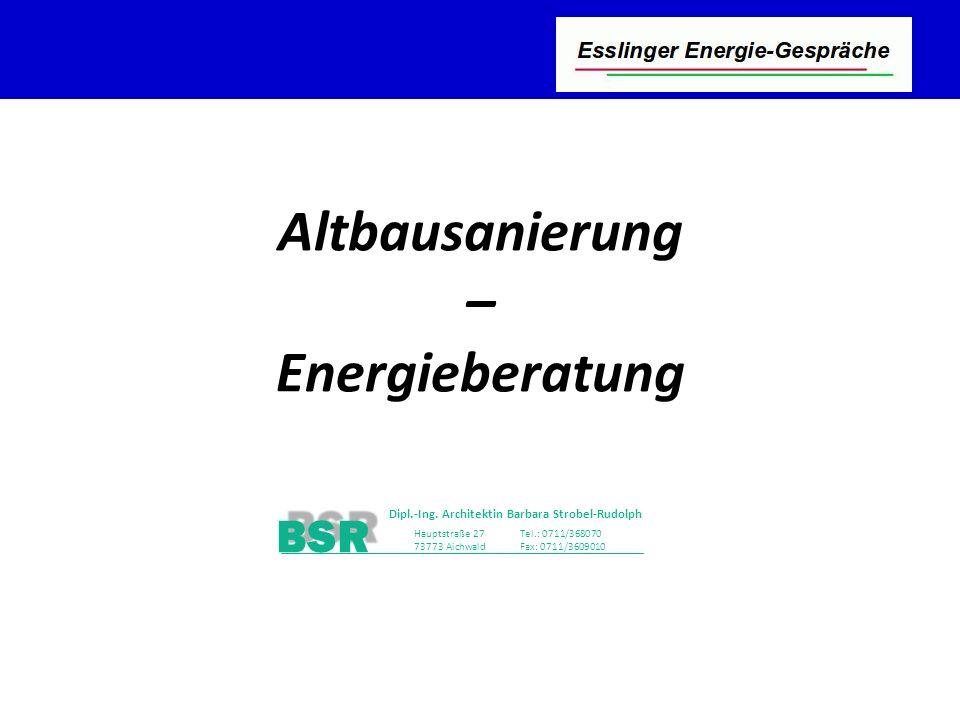 Stutensee-Bad BSR Dipl.-Ing. Architektin Barbara Strobel-Rudolph Hauptstraße 27 73773 Aichwald Tel.: 0711/368070 Fax: 0711/3609010 BSR Altbausanierung