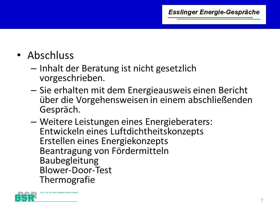 Stutensee-Bad BSR Dipl.-Ing. Architektin Barbara Strobel-Rudolph Abschluss – Inhalt der Beratung ist nicht gesetzlich vorgeschrieben. – Sie erhalten m