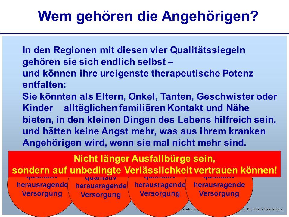 © Landesverband Hessen der Angehörigen Psychisch Kranker e.v. Wem gehören die Angehörigen? - und ihre Finanzierung verbindlich entschieden qualitativ