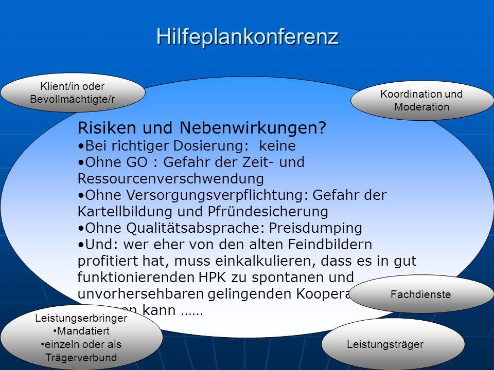 Hilfeplankonferenz Risiken und Nebenwirkungen.