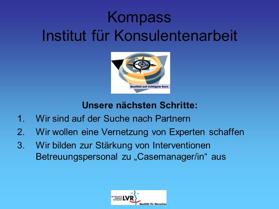 Kompass Institut für Konsulentenarbeit Wie finanzieren wir uns.