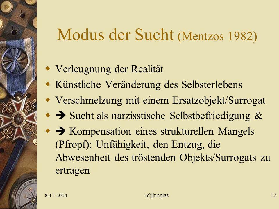 8.11.2004(c)jjunglas11 Surrogat Krystal H, Raskin HA (1970; Drug Dependence – Aspects of Ego Function. Detroit, dt.1983) KINDHEIT Oral-kannibalistisch