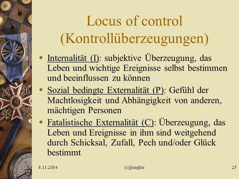 8.11.2004(c)jjunglas24 Sensation Seeking (Zuckerman 1964-1978) 1.