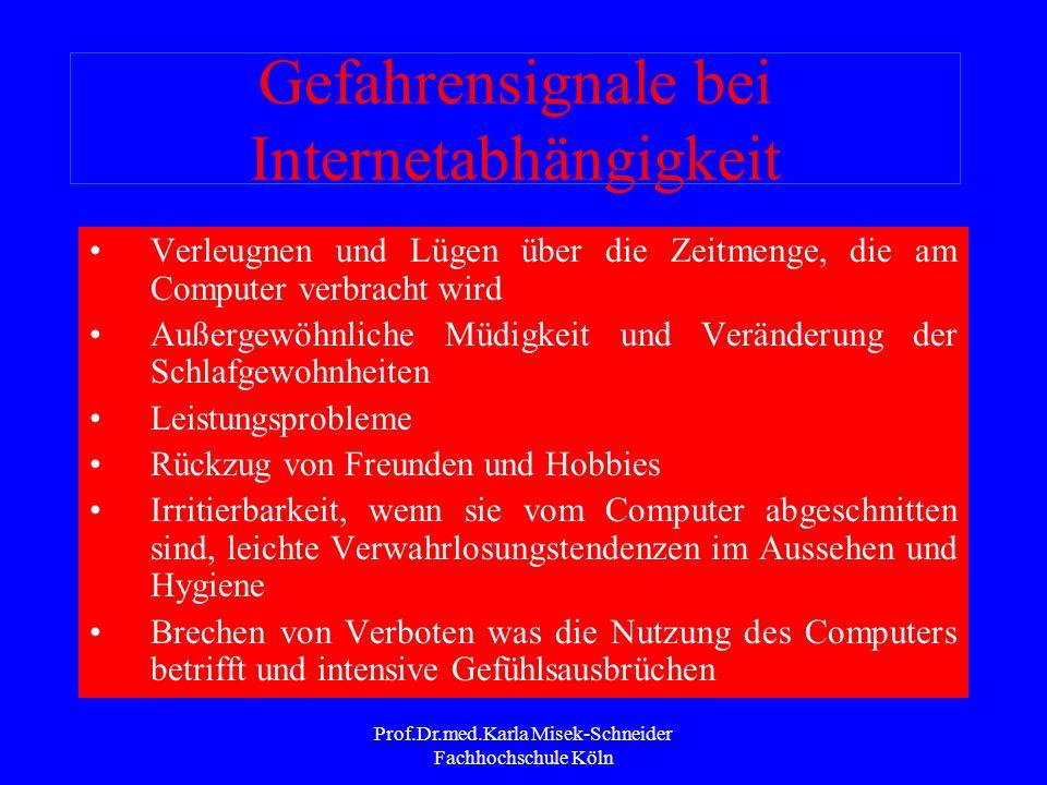 Prof.Dr.med.Karla Misek-Schneider Fachhochschule Köln Auswirkungen der Internet- Nutzung Erwerb neuer Fertigkeiten und Kompetenzen Erwerb von Wissen I