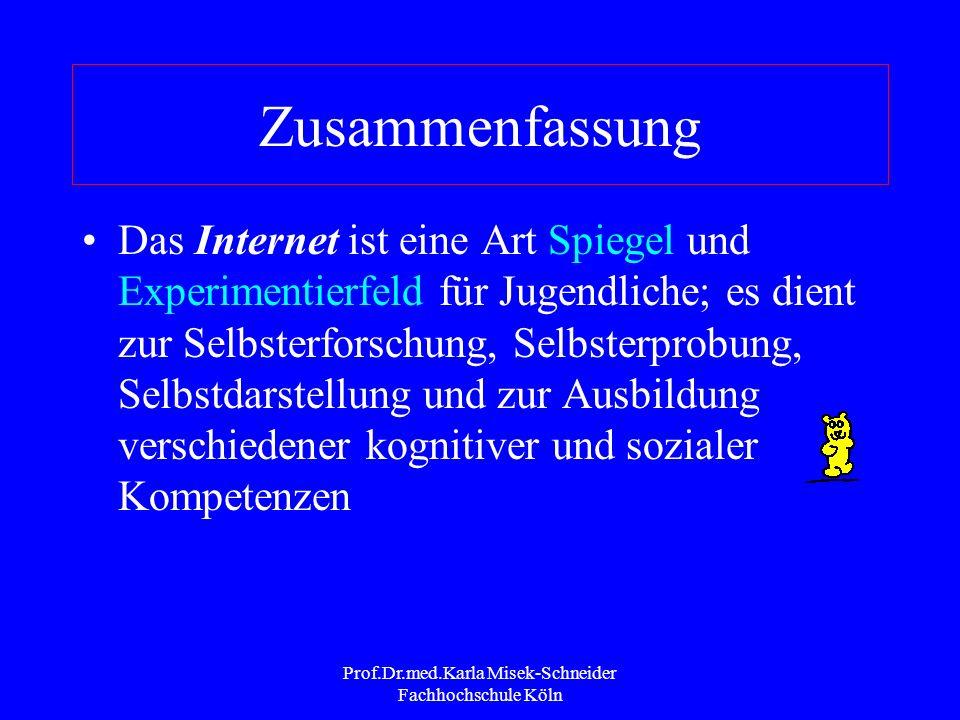 Prof.Dr.med.Karla Misek-Schneider Fachhochschule Köln Zusammenfassung Das Handy ist so beliebt weil es nicht nur eine funktionale zweckgebunden Bedeut